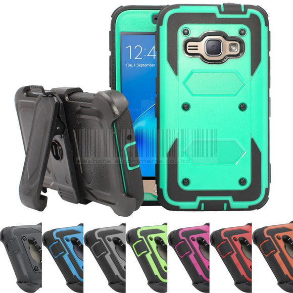 Hybrid Armor Heavy Duty Shockproof Hard Case Cover+Holster With Belt Clip For Samsung Galaxy Express 3