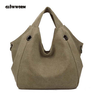2017 Hot Sale Women's Handbag Fashion Design Canvas Women Bag Ladies Tote Bag Solid Shoulder Bag Travel Bag Bolsos Mujer XP570