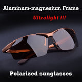 Aluminum magnesium alloy men's polarized sunglasses driving mirror glasses male goggles eyewear fashion driving sunglasses