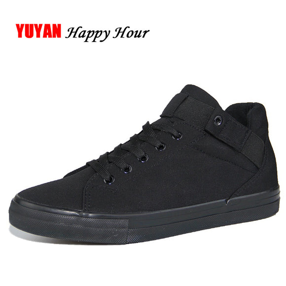 New 2017 Spring Summer Canvas Shoes Men Flat Heel Black Shoes High Quality Brand Casual Shoes ZH1841