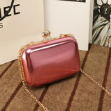 UKQLING Brand Candy Color Bag Women Quilted Clutch Box Ladies Mini Chain Clutches Messenger Bag Party Evening Phone Clip Package