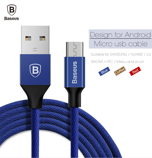 Baseus Micro USB Cable For Samsung Huawei Xiaomi LG Fast Charging Cable For Android Smart Mobile Cell Phone Charger Data Cable