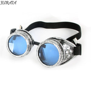 2017 fashion new vintage sunglasses old Silver womens sunglasses man Steampunk 5 color Gothic Retro Style Goggles colorful Lens