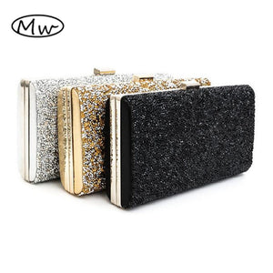 Female Clutch 2017 Luxury Handbags Diamond Evening Bag Bling Banquet Party Wedding Purses Clutch Wallet Gold Silver Black