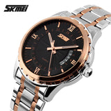 2017 SKMEI Brand Fashion Casual quartz watch men luxury brand military wristwatches full steel men watch relogio masculino