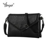 YBYT brand 2017 new vintage casual chains alligator women clutch hotsale ladies party purse shoulder messenger crossbody bags