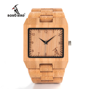 BOBO BIRD L22 Business Watches Mens top brand luxury Bamboo Wristwatch in Gift Box