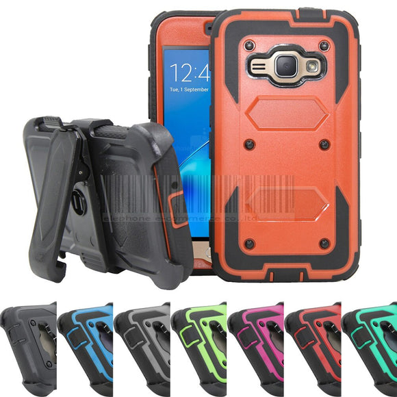 Heavy Duty Hybrid Armor Case Shockproof Hard Cover+Holster With Belt Clip For Samsung Galaxy Amp 2