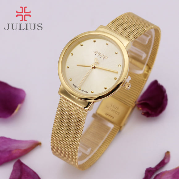Thin Classic Lady Women's Watch Japan Quartz Girl Hours Fine Fashion Clock Bracelet Stainless Steel Girl Lover's Gift Julius Box