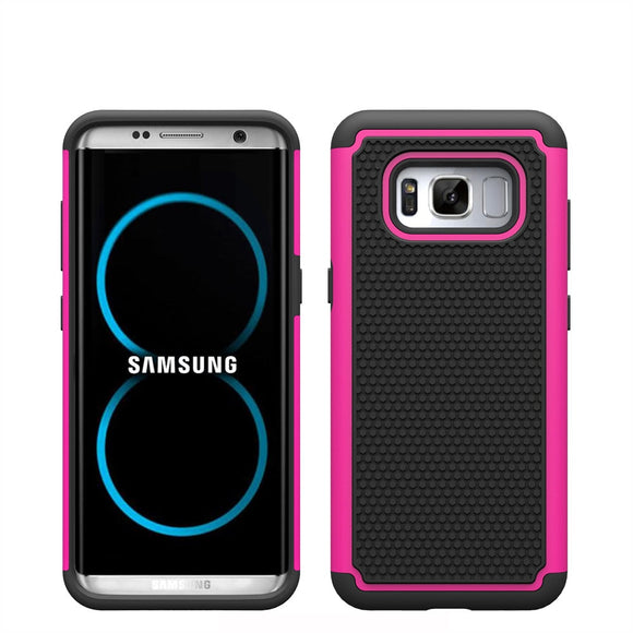 Heavy Duty Hybrid Tough Armor Case Dual Layer Silicone TPU&PC Shockproof Anti Slip Cover For Samsung Galaxy S8/Galaxy S8 Plus @