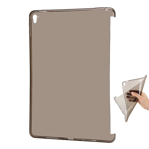 Clear flexi silicone soft tpu bottom back case cover for apple ipad mini 4 case transparent smart partner