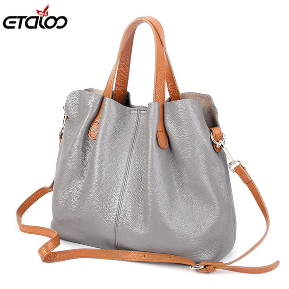 Women General leather handbags tide Europe fashion first layer of cowhide women bag hand diagonal cross package