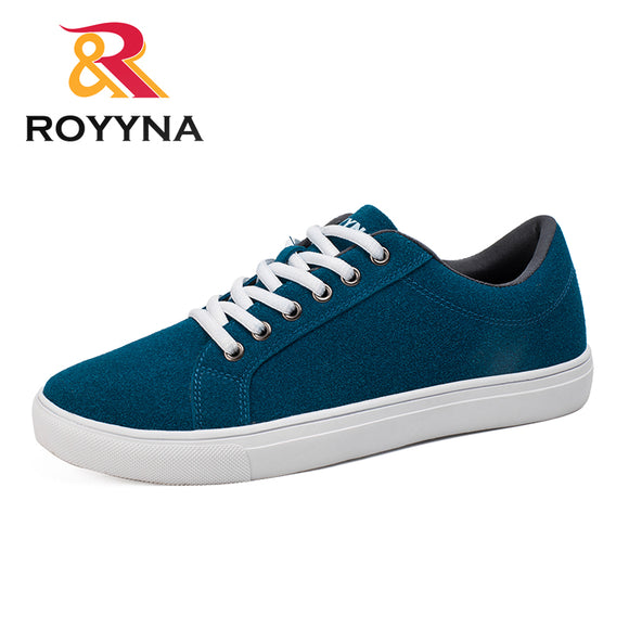 ROYYNA New Popular Style Men Casual Shoes Lace Up Men Flats Shoes Microfiber Comfortable Hombres Zapatos Slip On Free Shipping