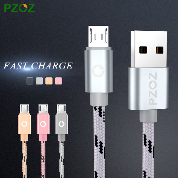 PZOZ Micro USB Cabel Fast Charging Mobile Phone USB Charger Cable Microusb Cable For Samsung Xiaomi Huawei MEIZU Umi Rome X