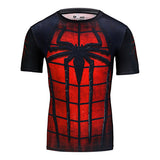 2016 compression shirt fitness tights crossfit quick dry short sleeve t shirt Summer Men tee tops clothing