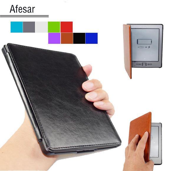 Advanced Leather Cover Sleeve for Kinlde 4 kindle 5 Case high quality book case for kindle 4th kindle 5th (Not fit Touch)