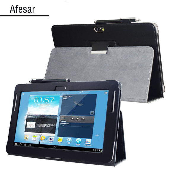 GT N8000 N8010 N8013 Note 10.1 (2012 Release) Advanced leather stand cover for Samsung N8005 N8020 SCH-I925 Tablet book case