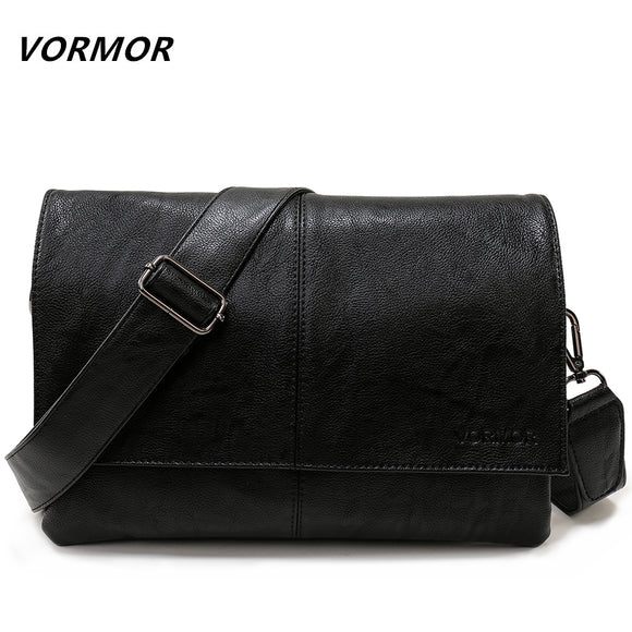 VORMOR Brand Casual Envelope Handbag Bags Men's Leather Shoulder Crossbody Bag Business Satchel Men Messenger Bags