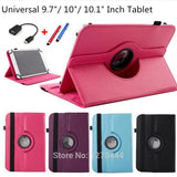 "360 Rotating Universal PU Leather Stand Cover For 10 inch Android Tablet Universal 9.7""/10""/ 10.1""/10.2 inch Tablet Case+pen+OTG"