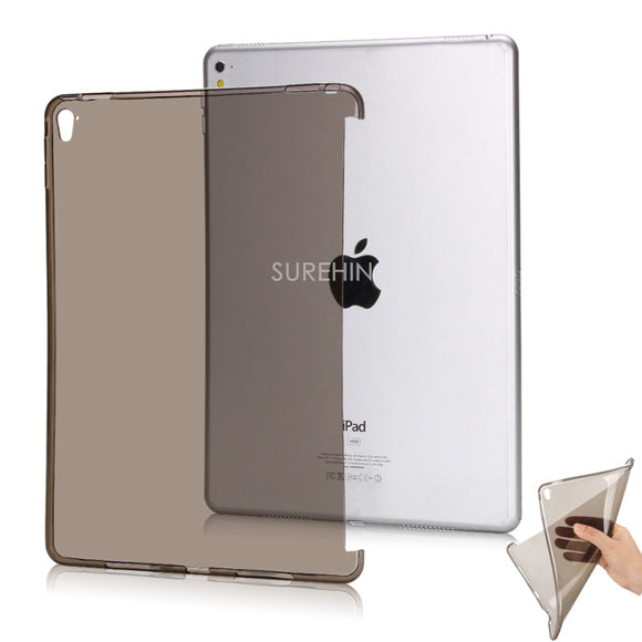 Nice clear transperent flexible tpu silicone bottom back case for apple ipad pro 9.7 cover protective smart cover partner