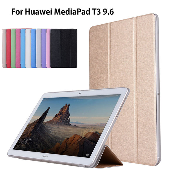 Case For Huawei MediaPad T3 10 AGS-L09 AGS-L03 9.6 inch Cover Funda Tablet PU Leather Flip Folding Folio Stand Shell