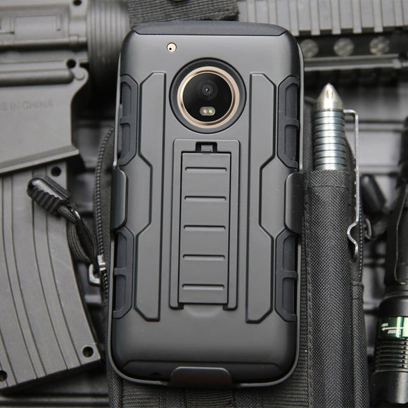 Heavy Duty Armor Case For Moto G5 Belt Clip Holster Case Shockproof Anti-knock Shell Cover For Motorola Moto G5 XT1672 @