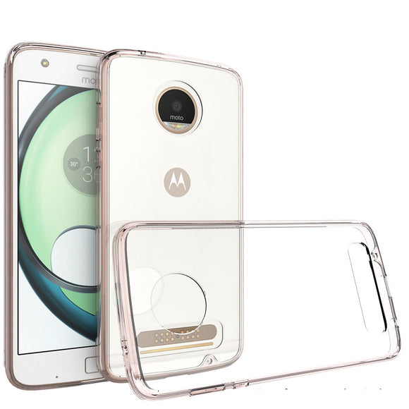 For Motorola Moto Z2 Play Soft TPU Frame Acrylic Back Case Ultra Thin Anti Scratch Clear Cover For Motorola Moto Z2 Play @