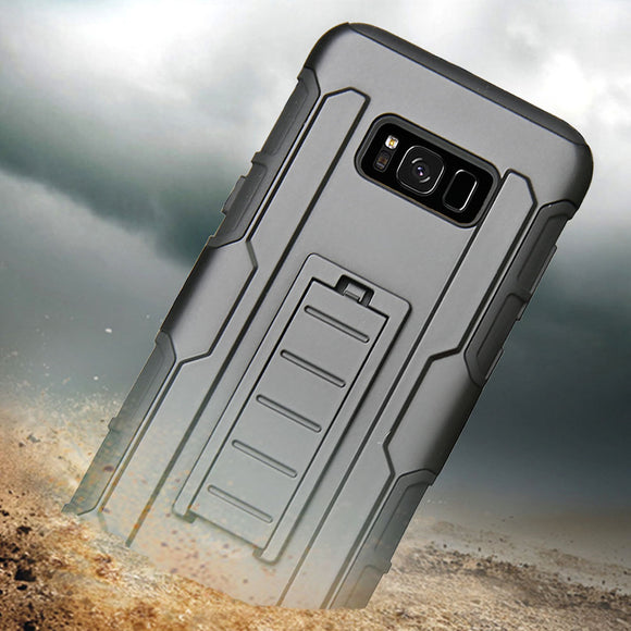 Heavy Duty Armor Case For Samsung Galaxy S8 Shockproof Anti-Scratch With Belt Clip Holster Cover For Samsung Galaxy S8 Plus S8+