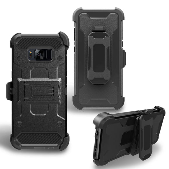 Heavy Duty Shockproof Rugged Case For Samsung Galaxy S8/Plus With Kickstand Belt Clip Holster Cover For Samsung Galaxy S8 Plus @