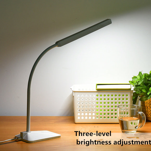 Modern LED Desk Lamp Eye-protective Touch Dimmable 3-Level Light 5W Gooseneck Lamp Study Reading Office Luminaria Lamparas