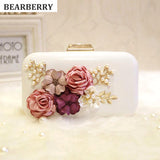 BEARBERRY 2017 high quality handmade flower evening clutch bags fashion Party Clutch Purse Wallet wedding dinner bags