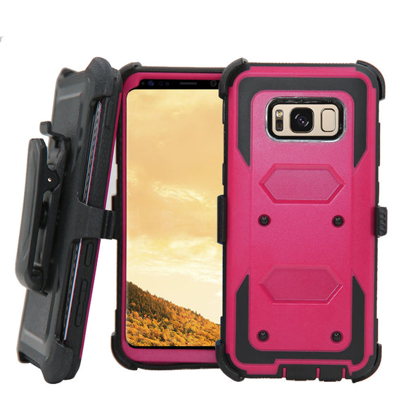 Heavy Duty Case For Samsung Galaxy S8 Cover Hybrid Shockproof Rugged Case Belt Clip Holster Cover For Samsung Galaxy S8 Plus @