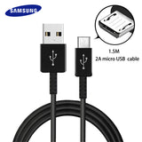 Samsung Original Fast Charger Cable 1.5M 2A Micro USB Cabel Converter Connector Smartphone Car Charge Galaxy S6 S7 edge note 4 5
