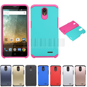 2 In 1 Heavy Duty Slim Hybrid Shockproof Impact Protective Armor Hard Skin Case Cover For ZTE Prestige N9132/Maven 2/Sonata 3