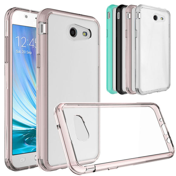 Soft TPU Hard Back Acrylic Bumper Case Transparent Clear Cover For Samsung Galaxy J3 Emerge/Prime/J3 2017/J3 Eclipse/J3 Mission