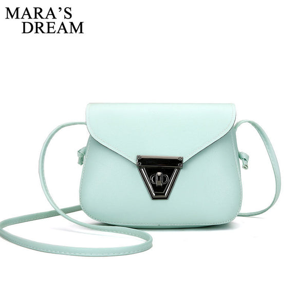Mara's Dream 2017 Fashion Women Small Crossbody Bags PU Leather Candy Color Small Flap Shoulder Bags for Girls Messenger Bag