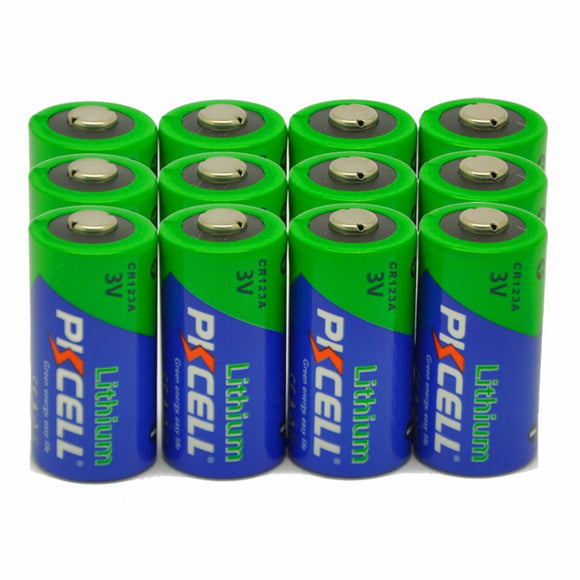 12 X PKCELL CR123A Lithium Battery CR123 CR 123 CR17335 123A CR17345 16340 2/3A 3V Li-MnO2 Photo Battery Batteries for Carmera