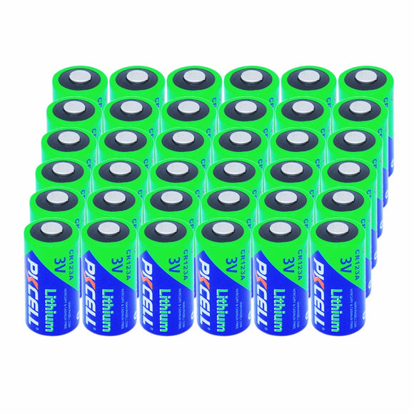 36x PKCELL CR17345 CR123A CR123 123 123A 16340 1500mAh 3V Non-Rechargeable Lithium Battery With PTC Protected For Camera ,Photo