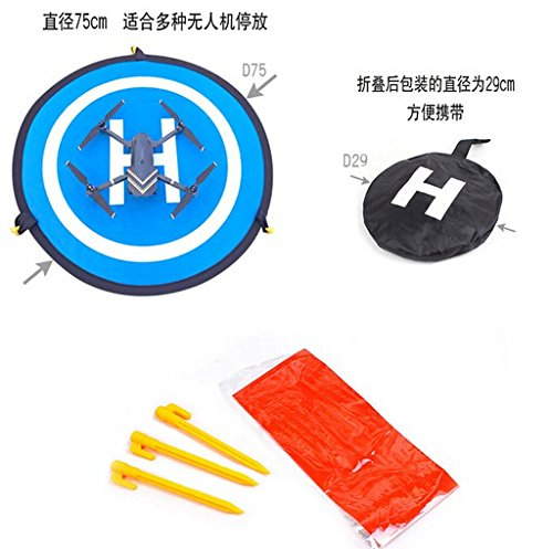 Portable Parking Apron 75cm Fast-fold Landing Pad for DJI phantom 3 4 Mavic Pro Drone/ DJI Spark