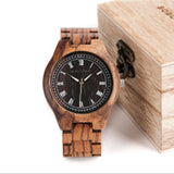 BOBO BIRD Luxury Antique Mens Wooden Watch CdO18 CbO19 Roman Numerals Uomo Orologio in Gift Box