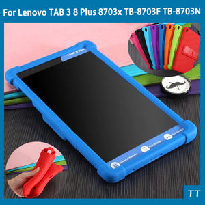 "silicon cover case For Lenovo TAB 3 8 Plus 8703x TB-8703F TB-8703N 8.0""Tablet Pc TAB3 TB-8703 protective case + free 3 gifts"