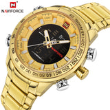 NAVIFORCE Top Brand Luxury Gold Steel Waterproof Watches Men Quartz Watch Mens Army Military Wristwatch Clock Relogios Masculino
