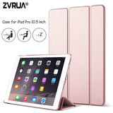 Case for New iPad Pro 10.5 inch 2017, ZVRUA YiPPee Color Ultra Slim PU leather Smart Cover Case Magnet wake up sleep for Pro10.5