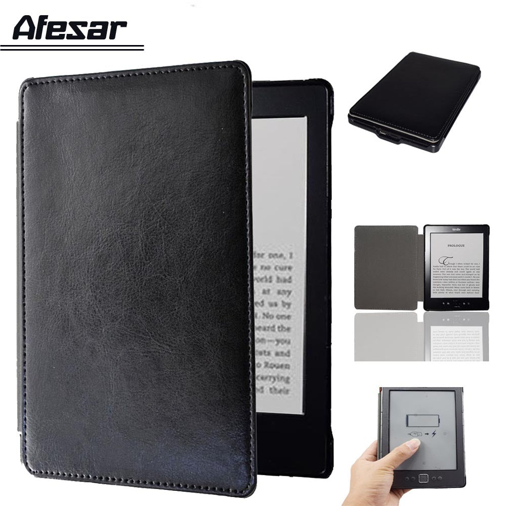 Flip book cover case for Amazon Kindle 4 Kindle 5 D01100 ebook high quality  pu leather pocket bag pouch folio case+screen film