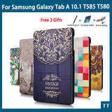 High quality PU Case Cover for Samsung Galaxy Tab A6 10.1 2016 T585 T580 SM-T580 T580N Case + Screen Protector gifts