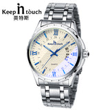 Top Brand Watch Men Fashion Automatic Date Watches For Men Calendar Waterpoof Noctilucent Metal Wrist Watch With Gifts Box
