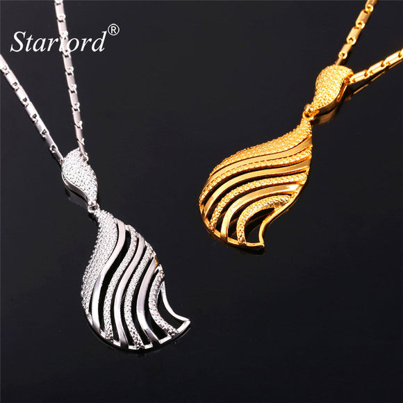 Starlord Brand Jewelry Sets For Women Sea Snails Shape Drop Earrings Pendant Necklace Set Gold/Silver Color Jewelry Sets PE992