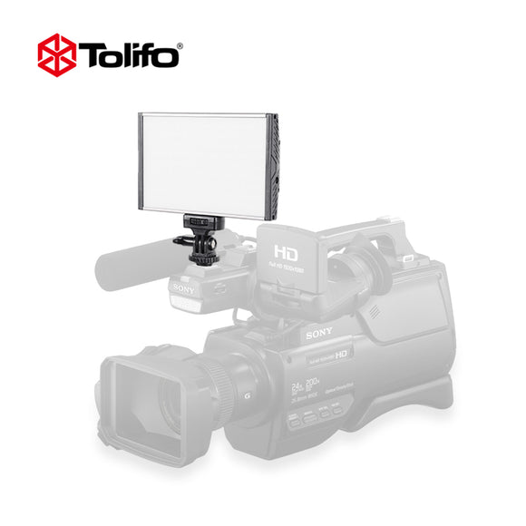 Tolifo PT-15B Ultra Thin Light Weight Aluminum Alloy Bi-color LED Video Camera Light Photography Light for DSLR and Camcorder