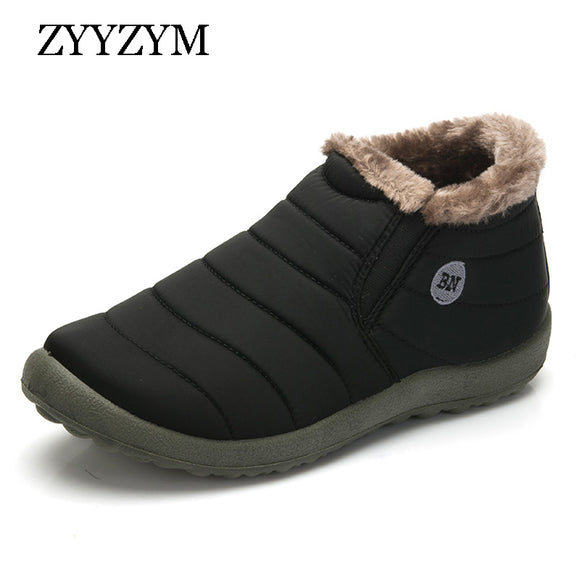 Men Winter Keep Warm Cotton Shoes Classic Unisex Hot Sales Casual Fashion Man Waterproof Ski Snow Boot Large size