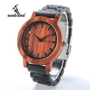 2017 New Luxury BOBO BIRD Brand Men Watches Wooden Band Quartz Wood Watch Wrist Watch Male Relogio C-M05